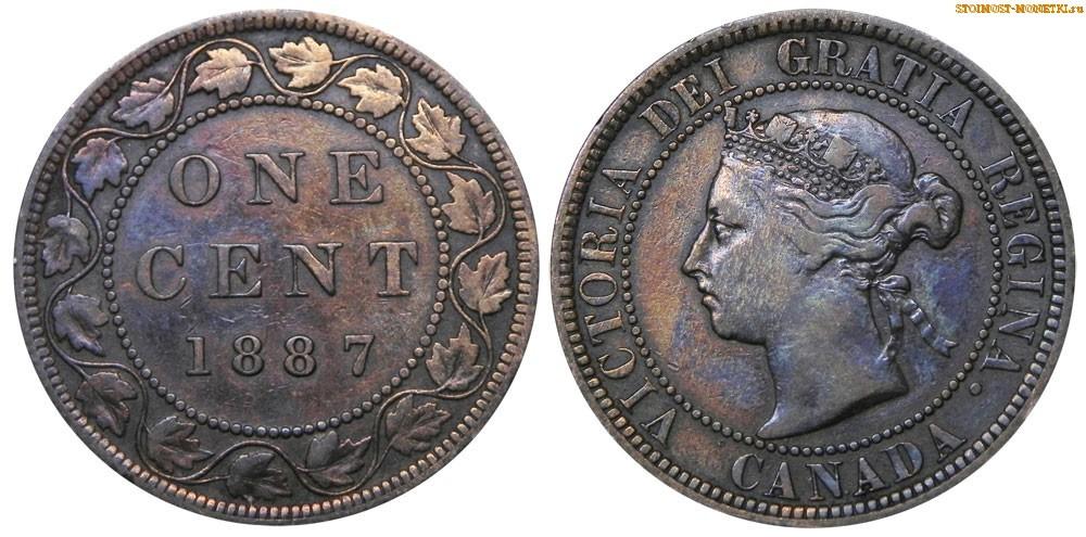 1 цент Канады 1887 года - стоимость / 1 cent Canada 1887 - цена монеты
