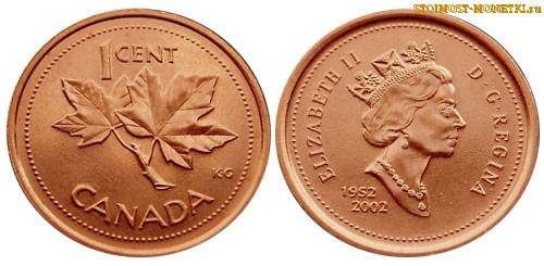1 цент Канады 2002 года - стоимость / 1 cent Canada 2002 - цена монеты