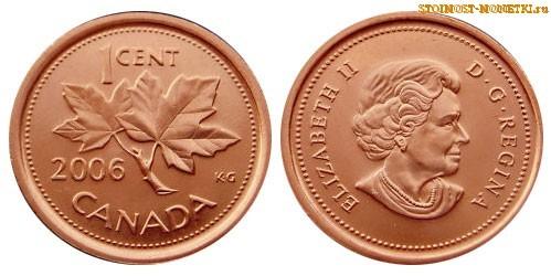1 цент Канады 2006 года - стоимость / 1 cent Canada 2006 - цена монеты