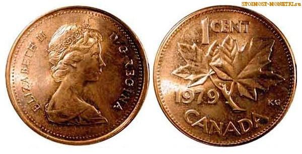 1 цент Канады 1979 года - стоимость / 1 cent Canada 1979 - цена монеты