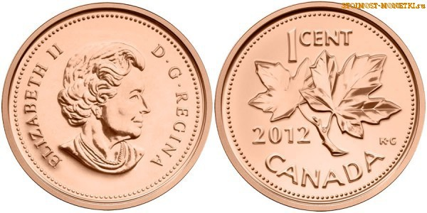 1 цент Канады 2012 года - стоимость / 1 cent Canada 2012 - цена монеты