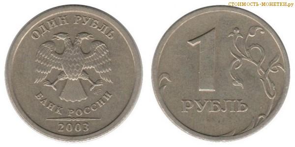 1 рубль 2003 года цена / 1 рубль 2003 СПМД стоимость монеты России