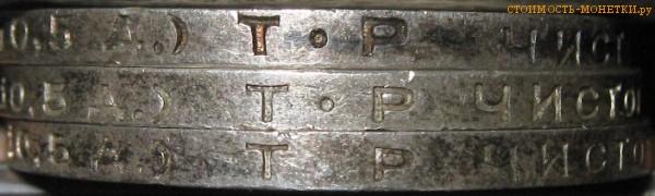 Разновидность гурта одного полтинника 1924 года с буквами ТР: с точкой и без точки